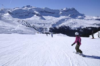 Snowboarden Franse Alpen